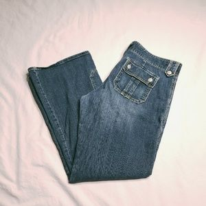 Old Navy Ultra Low Waist Flap Button Pockets